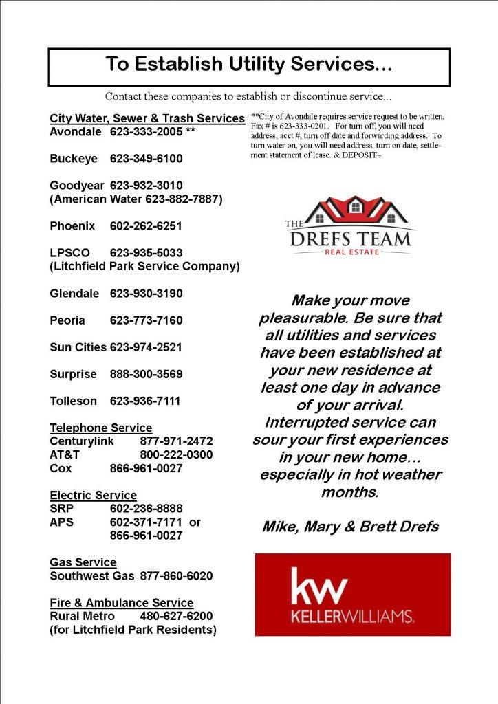 West Valley Utility Companies Contact Info